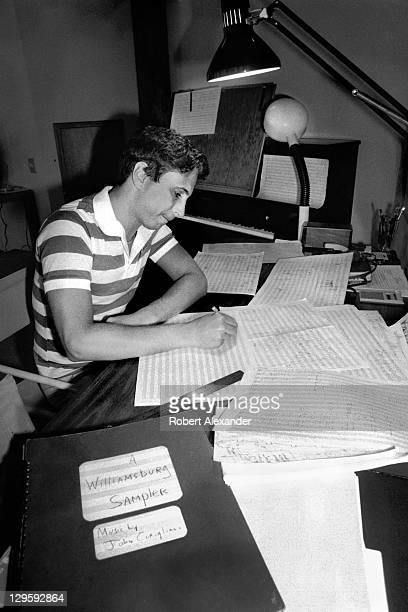 Pulitzer Prize winning classical music composer John Corigliano works on a score in his residence at Atlantic Center for the Arts in New Smyrna Beach...