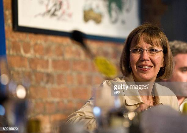 Pulitzer Prizewinning and former investigative reporter for The New York Times Judith Miller talks at a luncheon on Protecting sources in the post...
