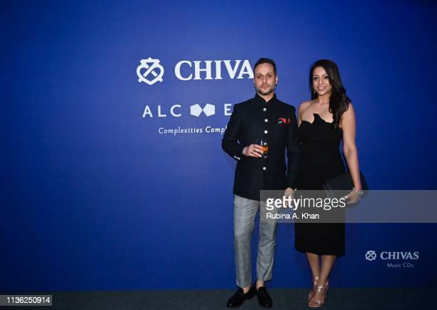 Pulkith Modi Chivas India and his wife Teena Sethi attend the third edition of Chivas 18 Alchemy 2019 on March 16 2019 in New Delhi India