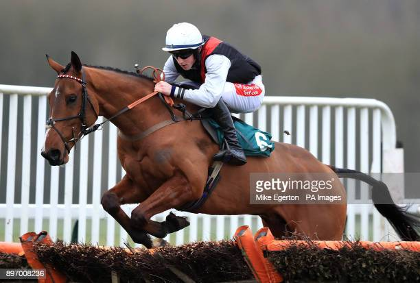 Pull Together ridden by Jockey Ciaran Gethings during the Totetrifecta Novices' Hurdle At betfredcom Chase at Towcester Racecourse