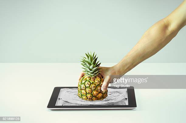 Pull up a Pineapple from the digital tablet
