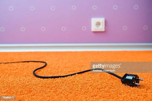 Pulled plug on rug