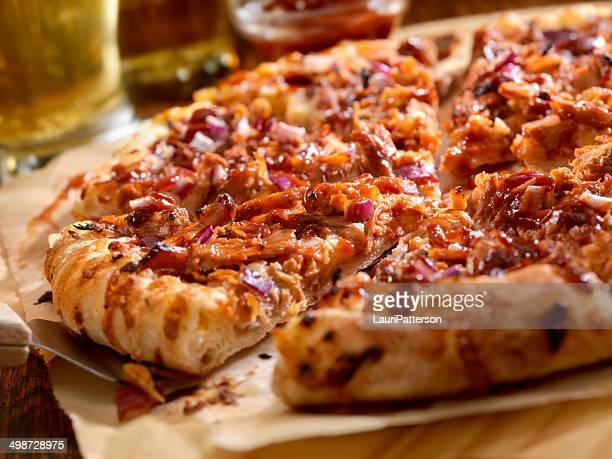 バーベキューポークピザ - ペストリー生地 ストックフォトと画像