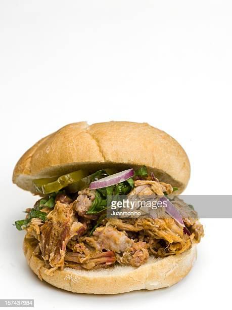 sándwich de cerdo desmenuzado - sloppy joe, jr fotografías e imágenes de stock