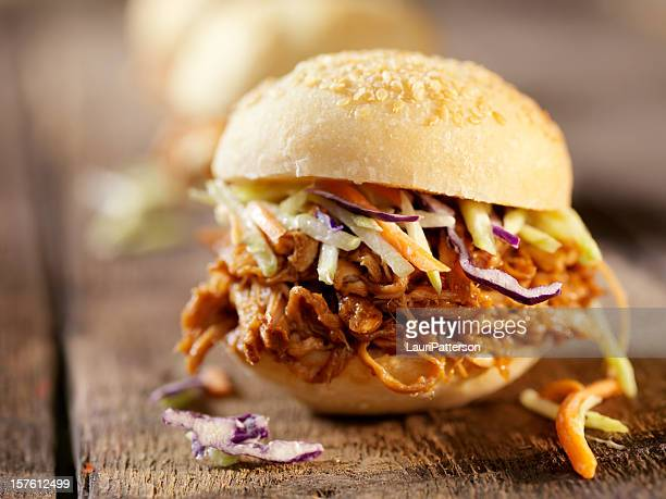 BBQ Pulled Pork Sliders with Coleslaw
