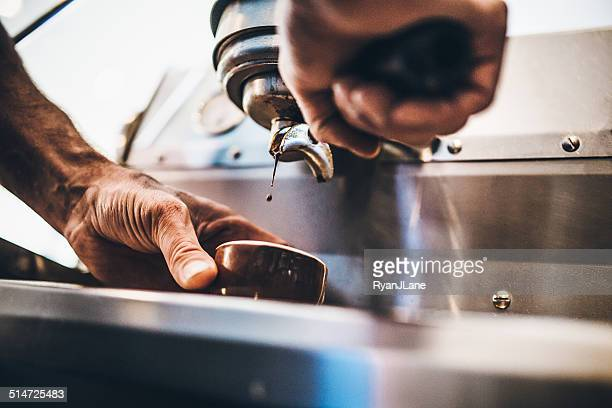 Pulling A Shot of Espresso