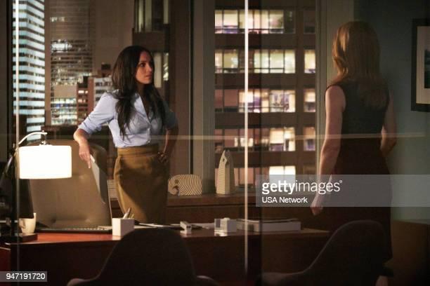"Pulling the Goalie"" Episode 714 -- Pictured: Meghan Markle as Rachel Zane --"