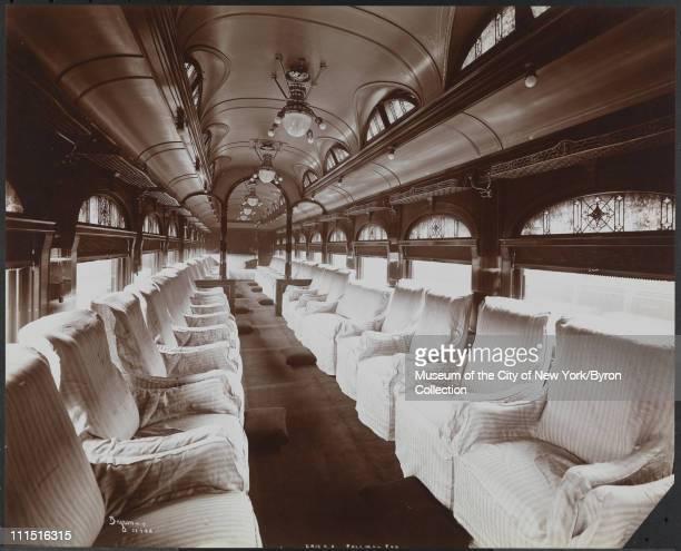 Pullman car on an Erie Railroad Co train New York New York 1903