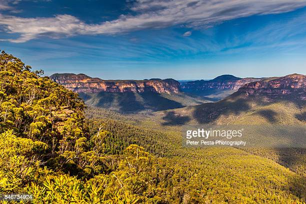 pulpit rock lookout - katoomba stock pictures, royalty-free photos & images