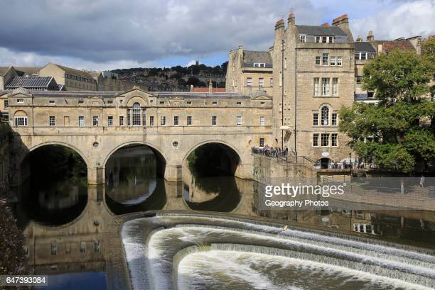 Pulteney Bridge River Avon Bath Somerset England UK architect Robert Adam Palladian style 1774