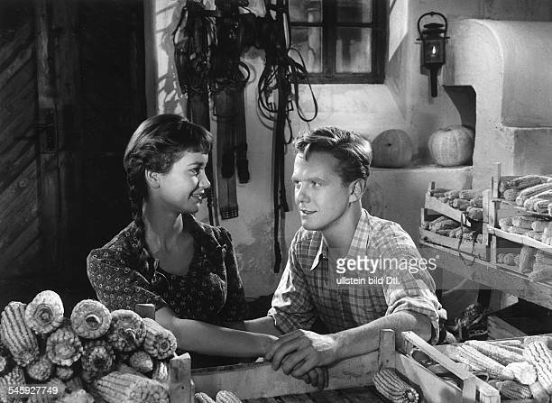 Pulver Liselotte Actress Switzerland * Scene from the movie 'Ich denke oft an Piroschka' with Gunnar Moeller Directed by Kurt Hoffmann West Germany...