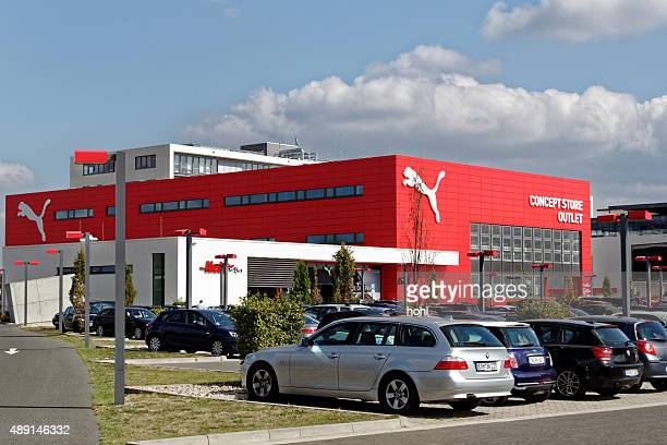 puma outlet store - herzogenaurach stock pictures, royalty-free photos & images