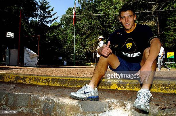 Pumas' Hector Moreno during their training session at Tlalpan Forest on September 25 2007 in Mexico City Mexico