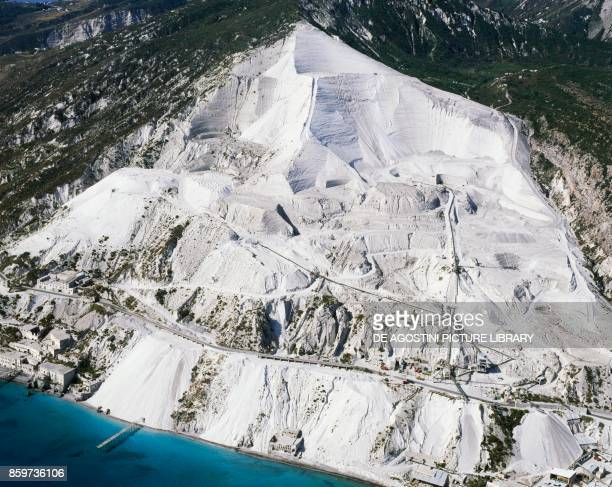 Pumice quarries in the NorthEast of Lipari Island Aeolian Islands Sicily Italy