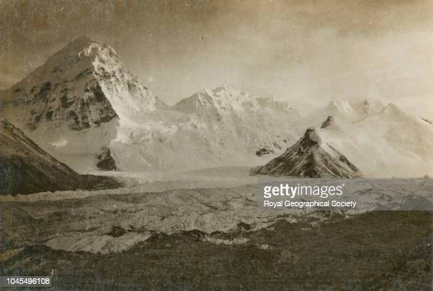 Pumori and Island Peak from Second advanced camp Tibet China Mount Everest Expedition 1921