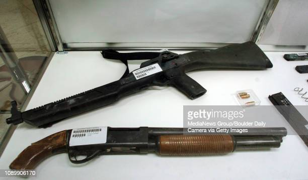 A pump action shotgun and assult rifle used in the 1999 Columbine High School shooting