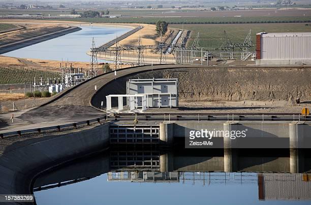 Pump station along the California Aqueduct