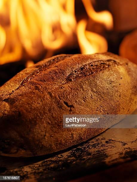 Pumpernickel Bread in a Wood Burning oven