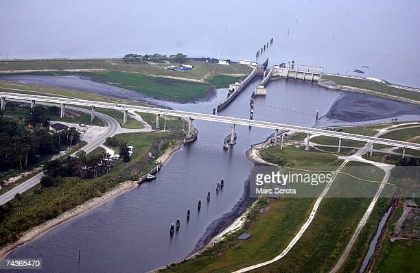 A pumping station stands near Lake Okeechobee May 31 2007 in Pahokee Florida Lake Okeechobee tied a record an alltime water level low May 30 as a...