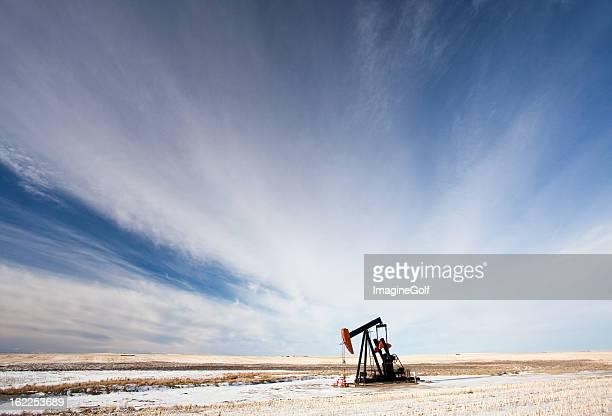 Pumpjack in Alberta in Winter
