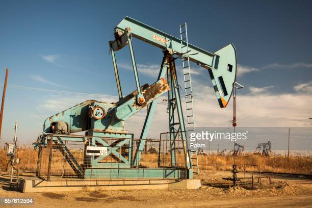 Pumpjack lifts oil from a well in California
