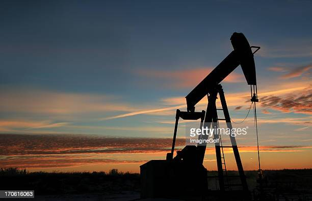 Pumpjack Silhoutte in Texas