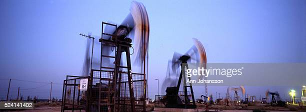 Pumpjacks extract oil from an oil field operated by Aera Energy LLC in Lost Hills.