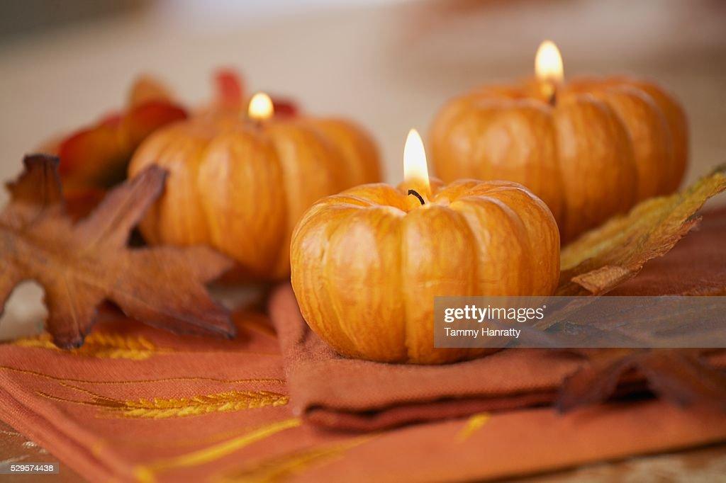 Pumpkin Candles : Stock-Foto