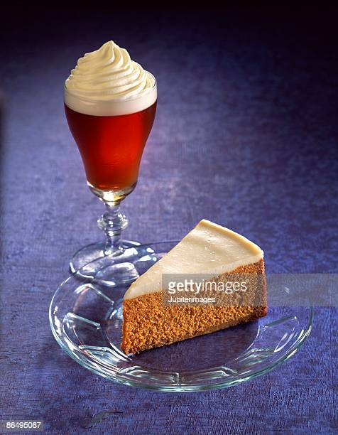 pumpkin cheesecake with coffee drink - coffee drink stock pictures, royalty-free photos & images