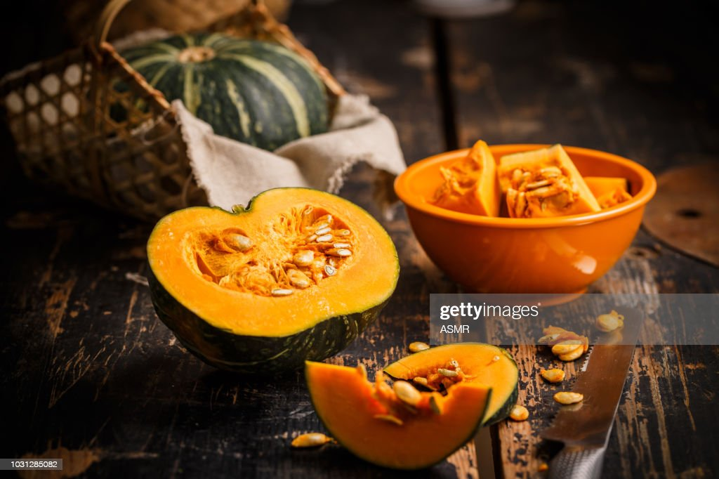 pumpkin on the table : Stock Photo