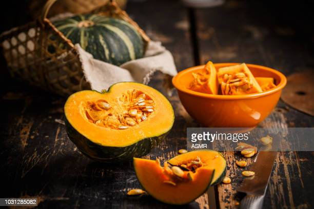 pumpkin on the table - pumpkin stock pictures, royalty-free photos & images