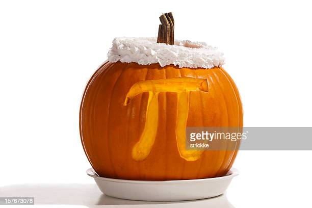 pumpkin pi plus whipped cream-- formula for dessert - happy thanksgiving text stock pictures, royalty-free photos & images