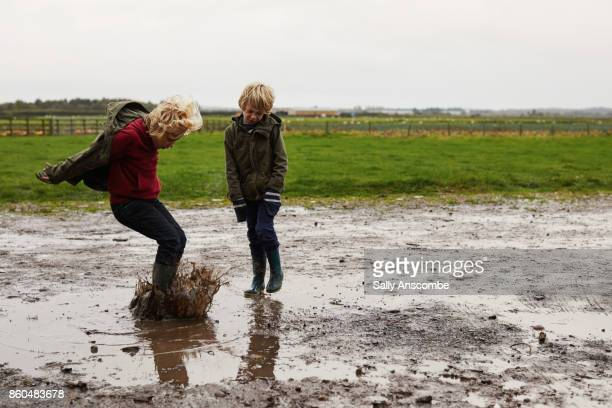 pumpkin picking - only boys stock photos and pictures