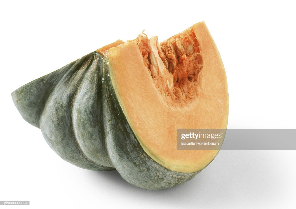 Pumpkin quarter, close-up : Stock Photo