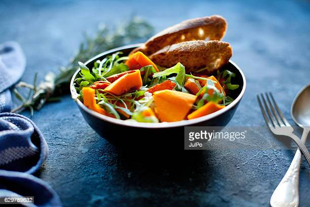 pumpkin salad - appetiser stock photos and pictures