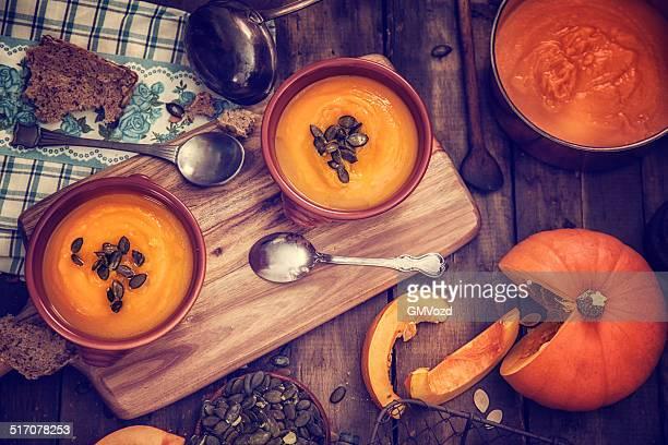 Pumpkin Soup for Autumn Days