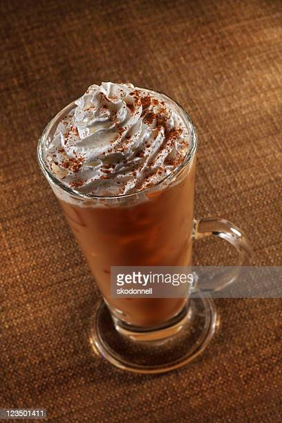 pumpkin spice latte - mocha stock photos and pictures