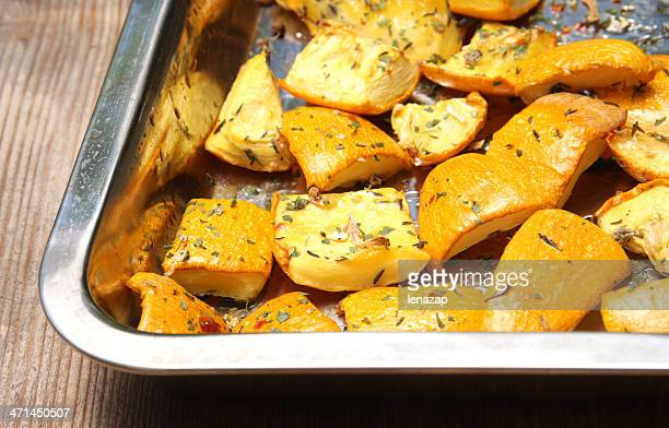 Pumpkins baked with herbs