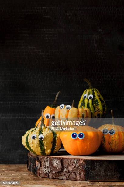 Pumpkins with eyes for Halloween