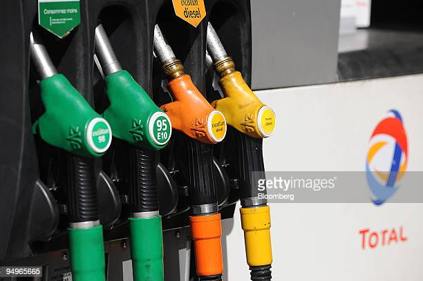 Pumps are seen at a Total SA gas station in Paris France on Thursday July 23 2009 Total SA releases its firsthalf earnings on July 31