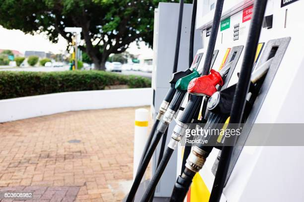 Pumps at a gas station in Cape Town
