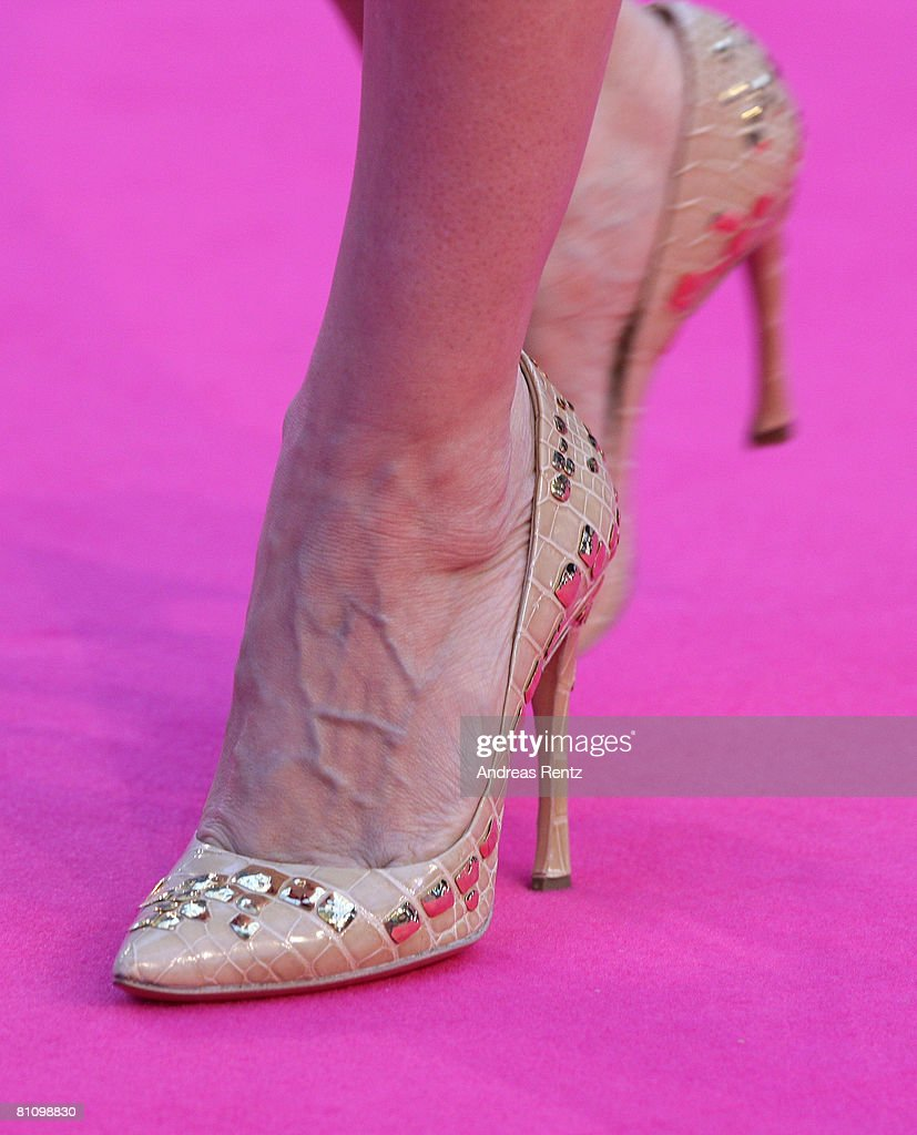 Pumps of actress Sarah Jessica Parker seen at the German premiere of 'Sex And The City' at the cinestar on May 15, 2008 in Berlin, Germany.
