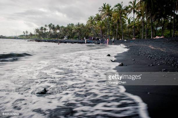 punalu'u beach of hawaii - big island hawaii islands stock pictures, royalty-free photos & images