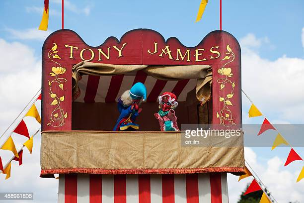 punch and judy show, traditional entertainment - puppet stock pictures, royalty-free photos & images