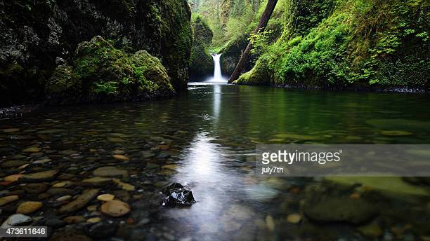 punch bowl falls - columbia river gorge stock pictures, royalty-free photos & images