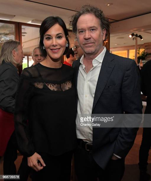 Punch Hutton and Timothy Hutton attend The British Are Coming by George Cleverley at the Sunset Tower Hotel on June 6 2018 in Los Angeles California