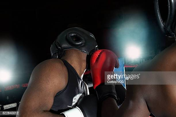 A punch to the head during a boxing match