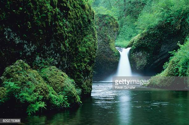 punchbowl falls, eagle creek - mt hood national forest stock pictures, royalty-free photos & images