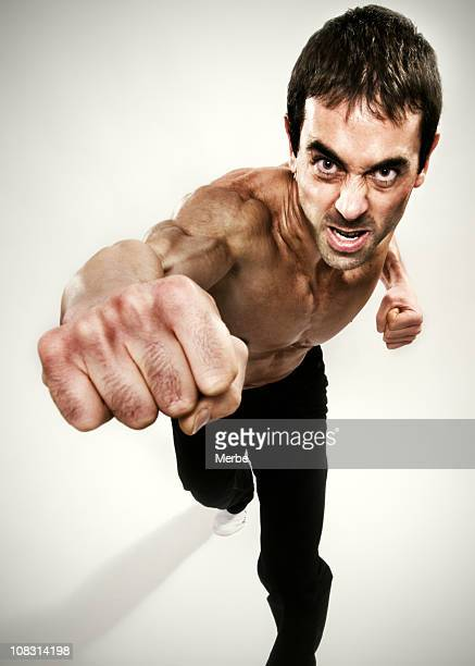 punching loudly