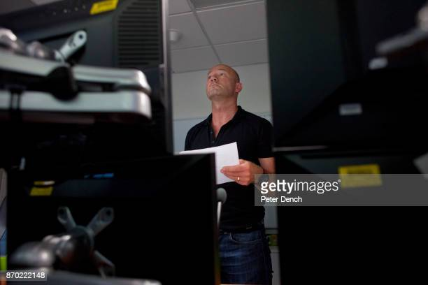 MOTD pundit Alan Shearer prepares his analysis in a BBC production office Match of the Day is the BBC's main football television programme Typically...
